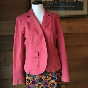TALBOTS 🌸 Salmon Pink Spring Stretch Blazer